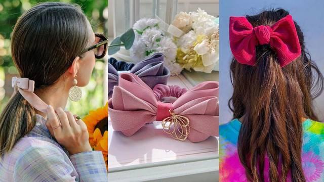 Tako je slatka: Velika mašna u kosi za moderne romantičarke