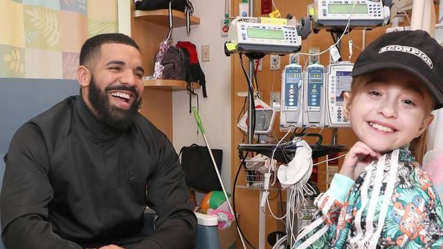 Drake je ispunio želju bolesne djevojčice: Posjetio ju u bolnici