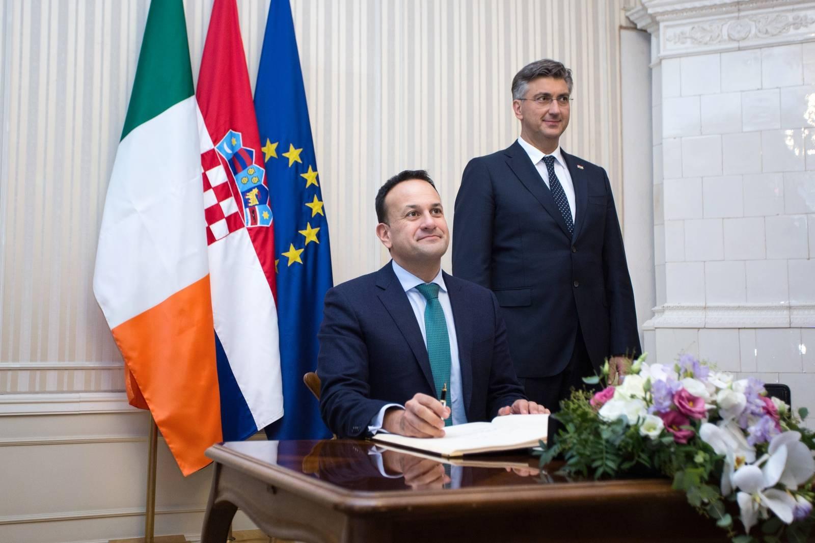 Sastanak Andreja Plenkovića s predsjednikom Vlade Irske Leom Varadkarom