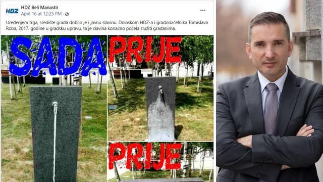 HDZ u Belom Manastiru se hvali da su popravili javnu slavinu
