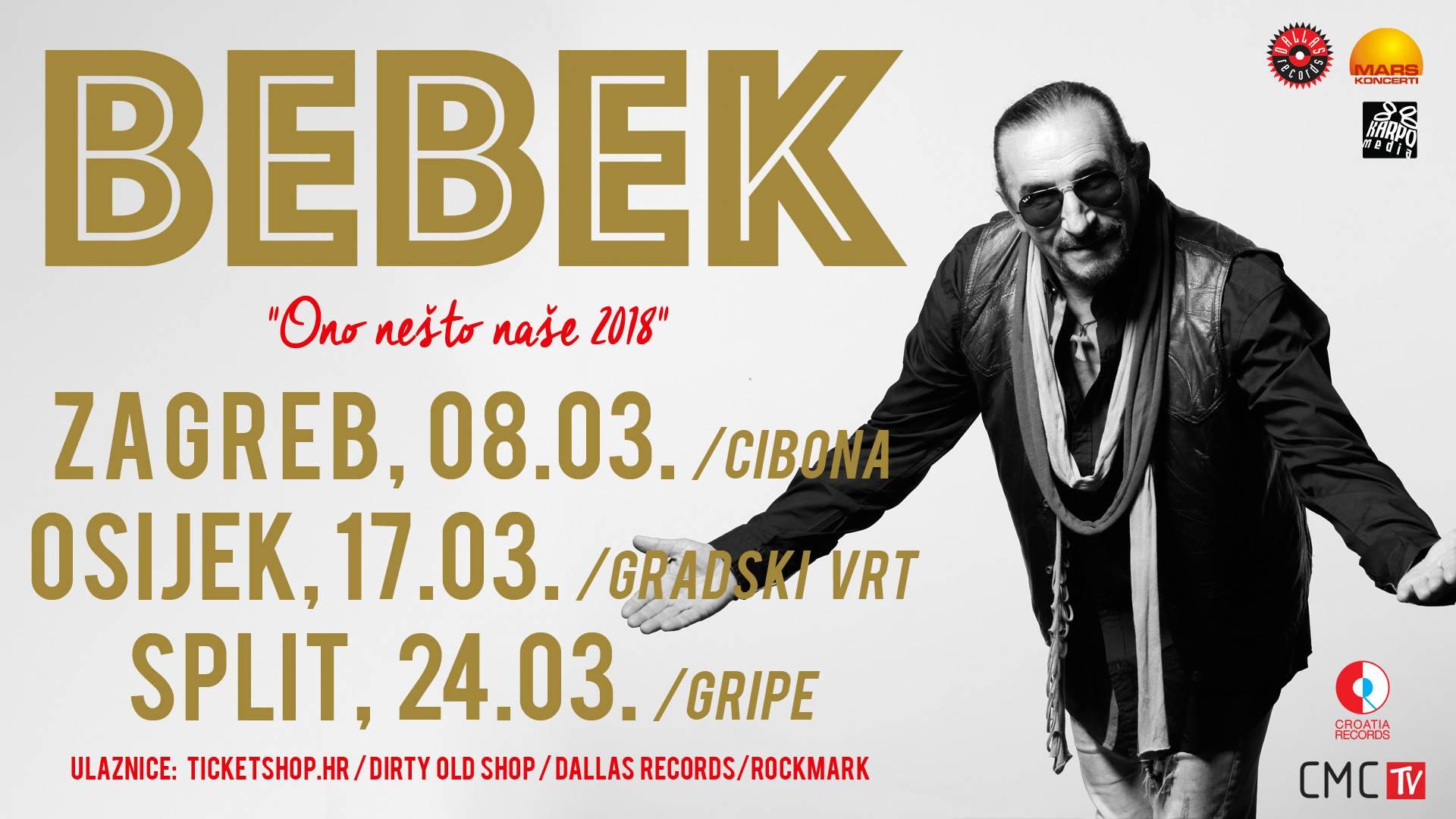 """Željko Bebek: Regionalna turneja """"Ono nešto naše"""""""