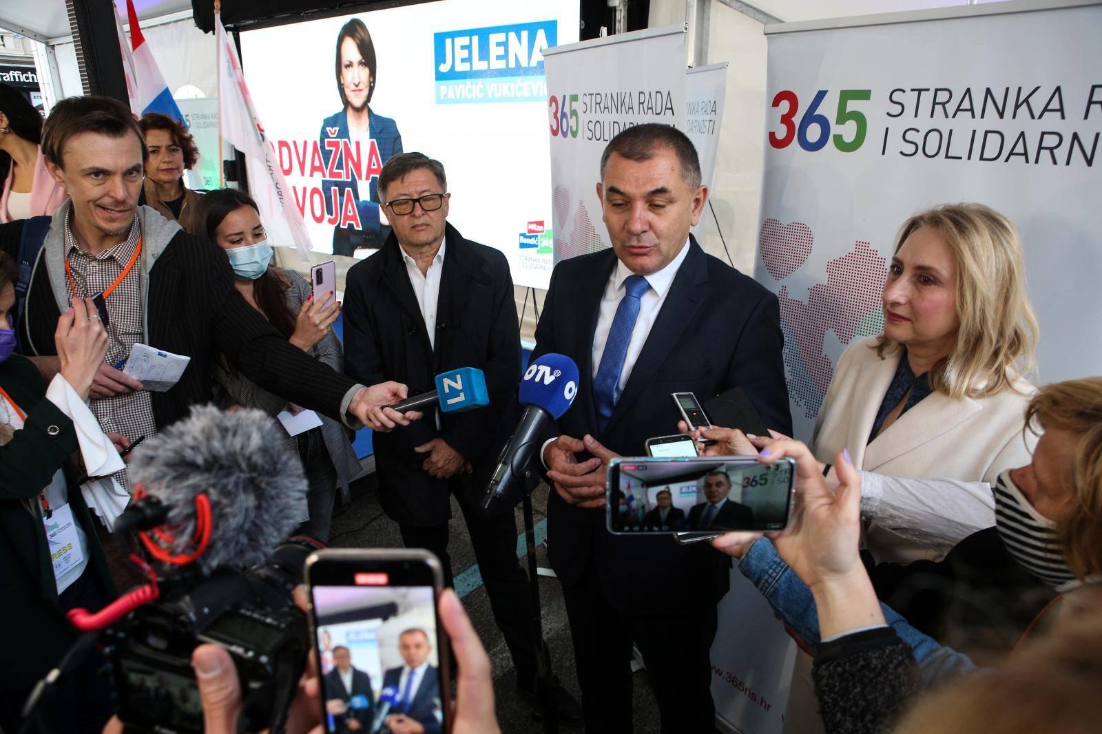 Izborni stožer kandidatkinje za gradonačelnicu Zagreba Jelene Pavičić Vukičević