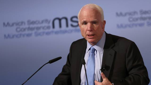 U.S. Senator McCain speaks at the opening of the 53rd Munich Security Conference in Munich