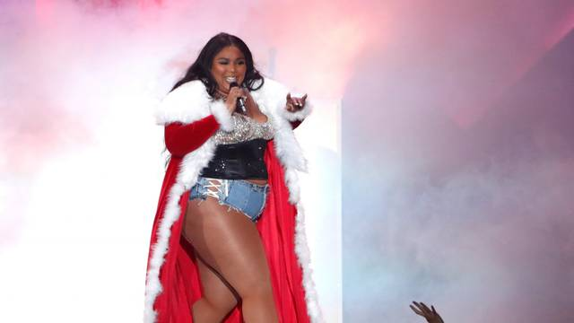 FILE PHOTO: Lizzo performs during iHeartRadio Jingle Ball concert at The Forum in Inglewood