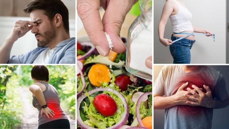 Što se događa u našem tijelu kad jedemo previše soli? Plinovi se nakupljaju, kile, a glava puca