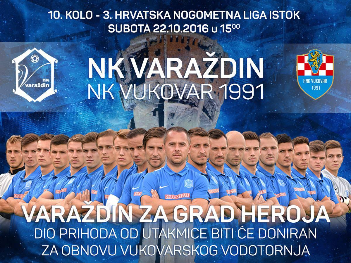 Varaždinci igraju za Vukovar: Dio prihoda ide za Vodotoranj