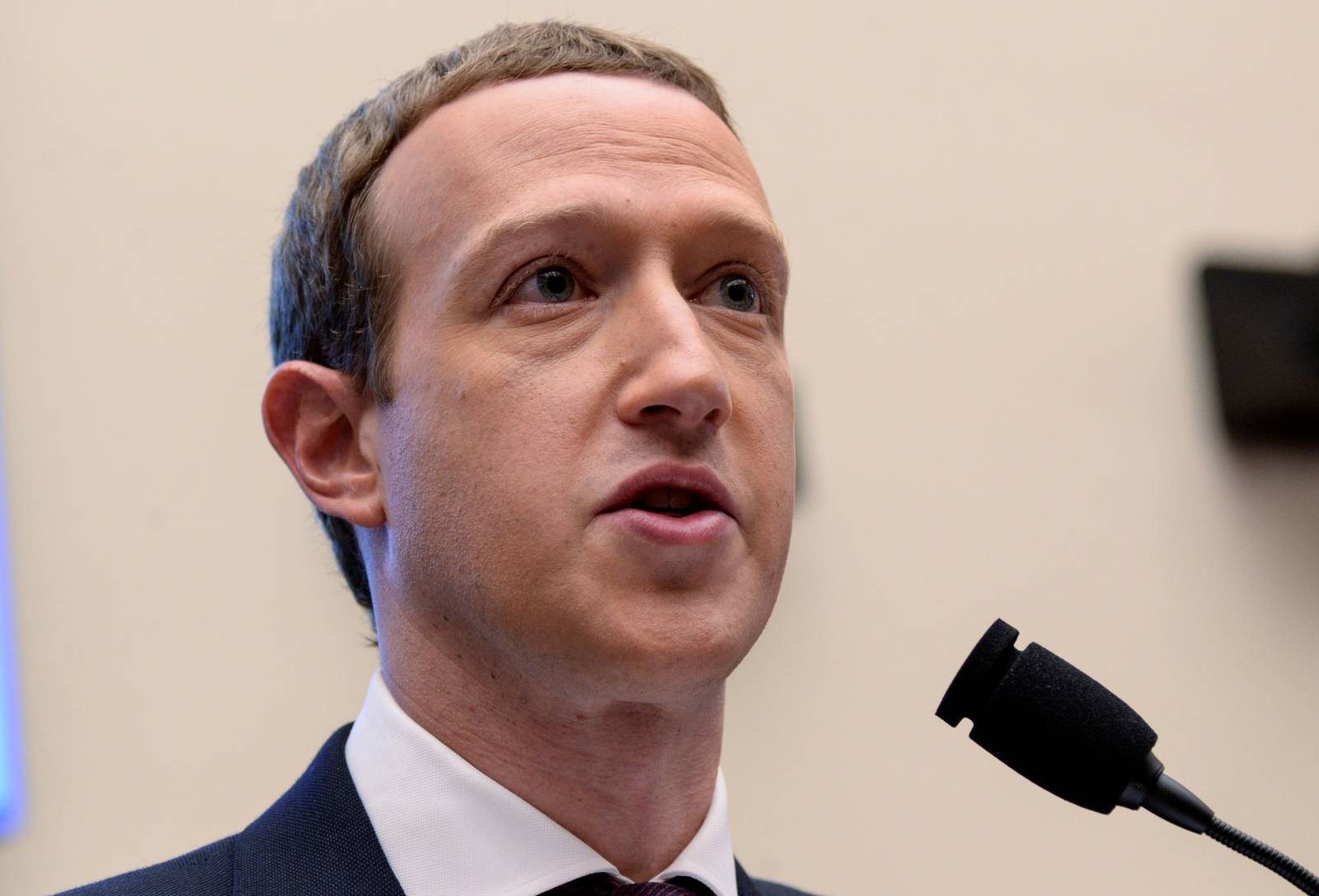 Facebook CEO Zuckerberg testifies about cryptocurrency Libra at House Financial Services Committee hearing on Capitol Hill in Washington