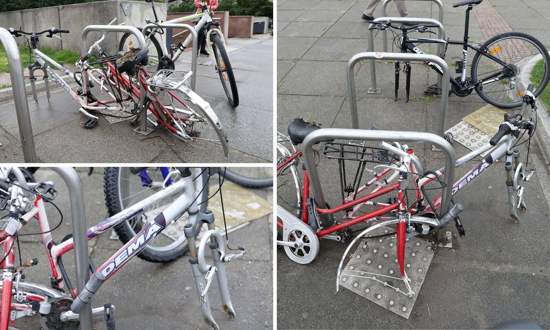 Na Glavnom kolodvoru netko je 'očerupao' zaključane bicikle