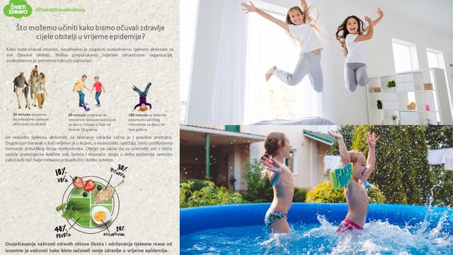 Živjeti zdravo kod kuće: Djeci treba 180, odraslima najmanje 30 minuta aktivnosti kroz dan