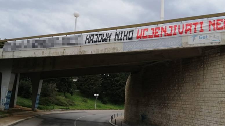 Osvanuo natpis kod Poljuda: Hajduka nitko ucjenjivati neće