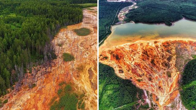 Voda iz bivšeg rudnika bakra obojila  je rijeku u narančasto