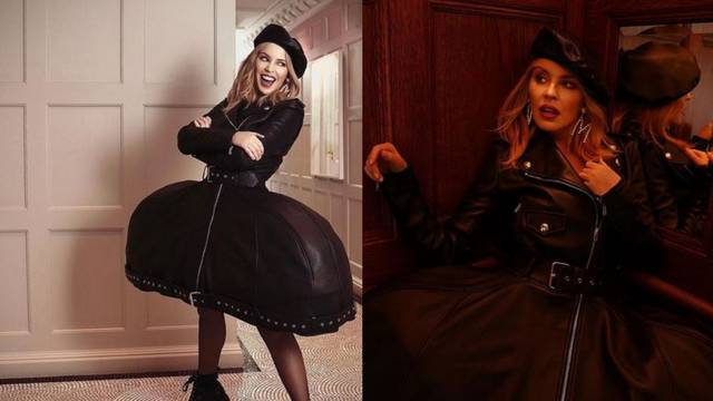 Kylie Minogue odjenula je crnu kožu inspiriranu krinolinom