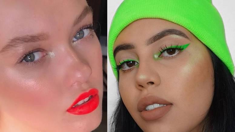 Minimalistički make-up look u nijansama hit neon pigmenata