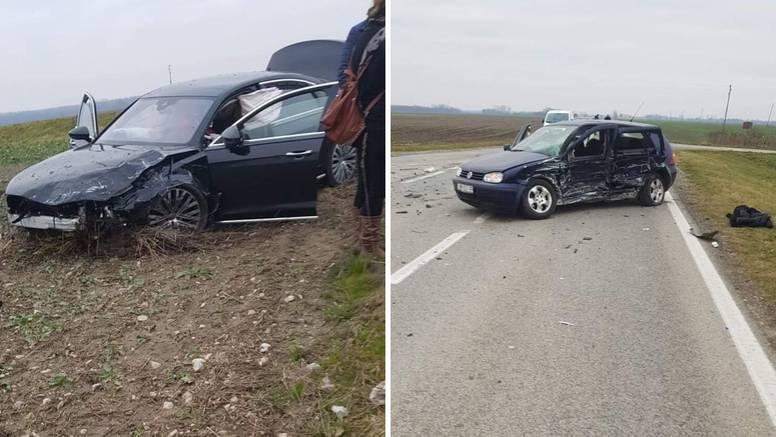 Troje ozlijeđenih u nesreći kod Belišća: Odvezli su ih u bolnicu