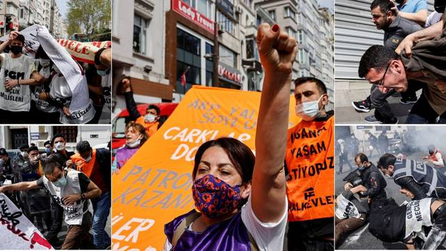 Stotine uhićenih na turskim prvomajskim okupljanjima