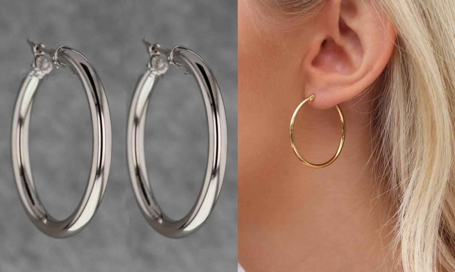 Za osjetljive uši idealne su naušnice od zlata, srebra i platine, bez dodatka nikala