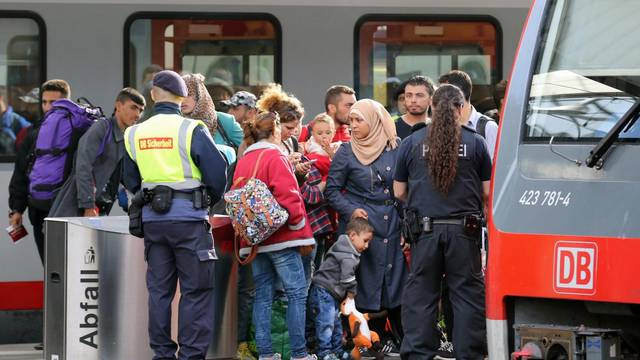 Migrants at Munich Train Station