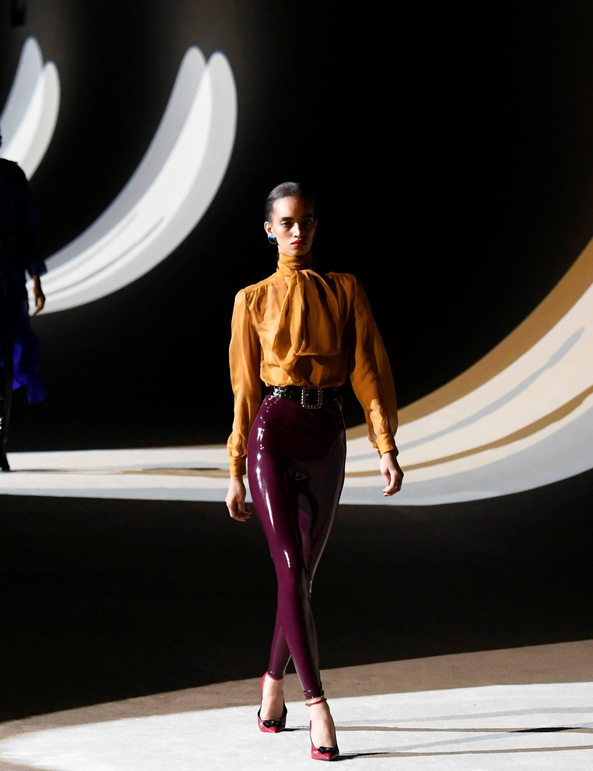Saint Laurent collection show at Paris Fashion Week