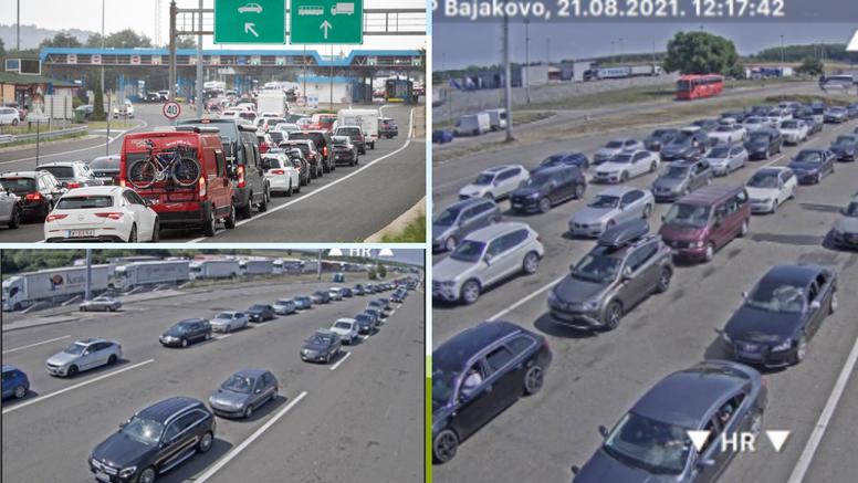 Na granicama sa Slovenijom i Srbijom kilometarske kolone: Na Bajakovu se čeka satima