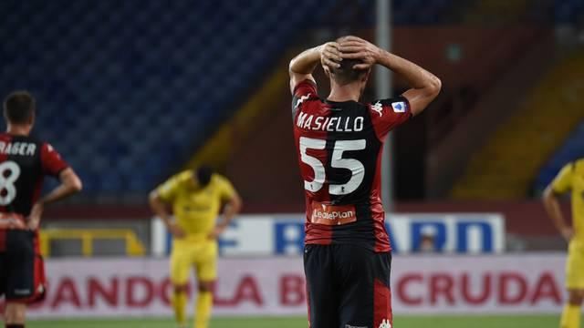 italian Serie A soccer match - Genoa vs Hellas Verona