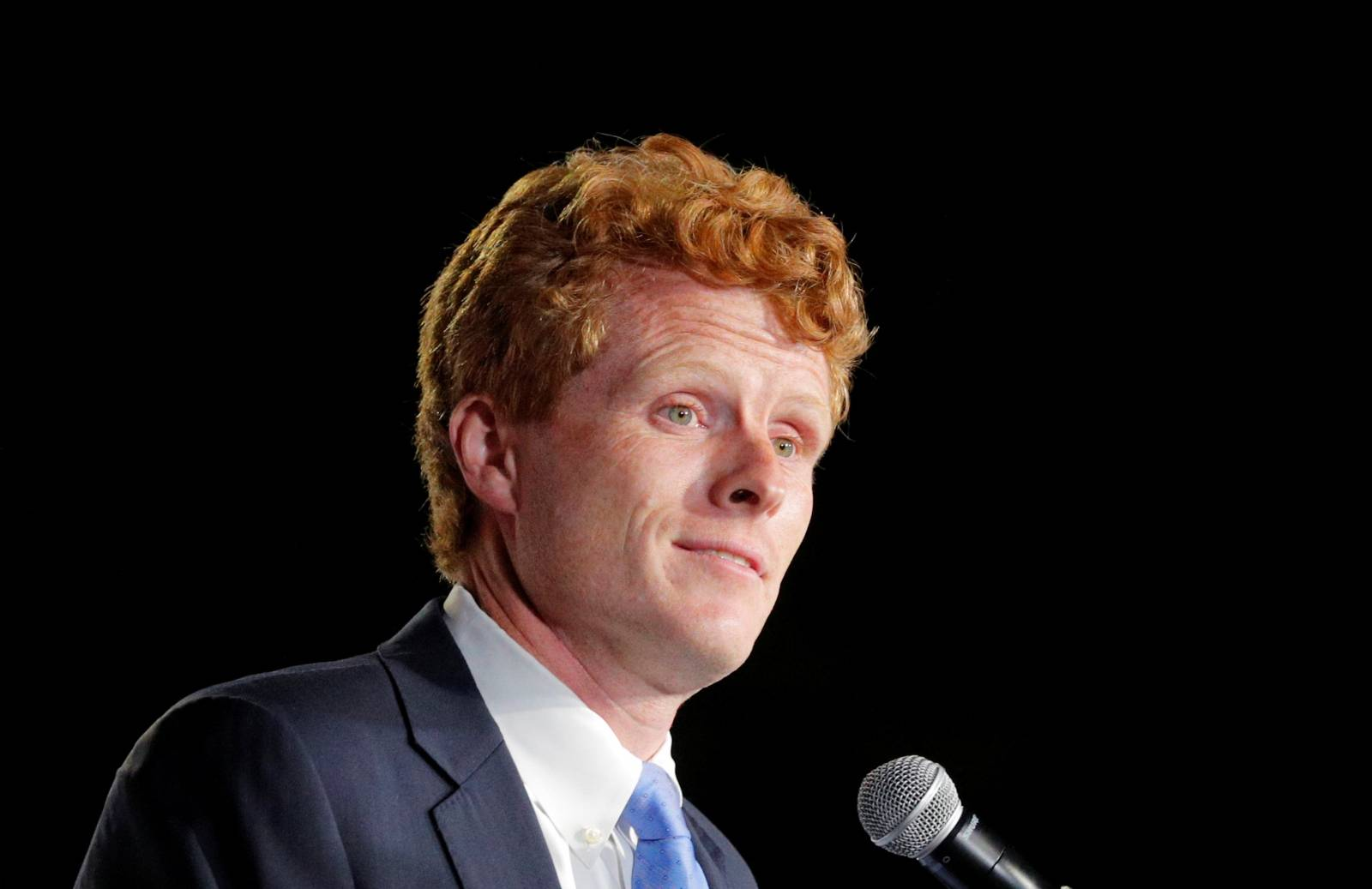 U.S. Representative Joe Kennedy III holds a primary election rally in Watertown