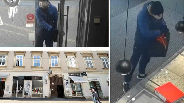 Jeste li ga vidjeli? Iz zlatarnice u centru Zagreba ukrao je nakit vrijedan stotine tisuća kuna
