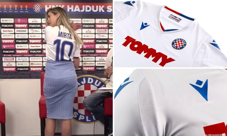Manekenka Mirta: Predstavila je novi bijeli Hajdukov dres...