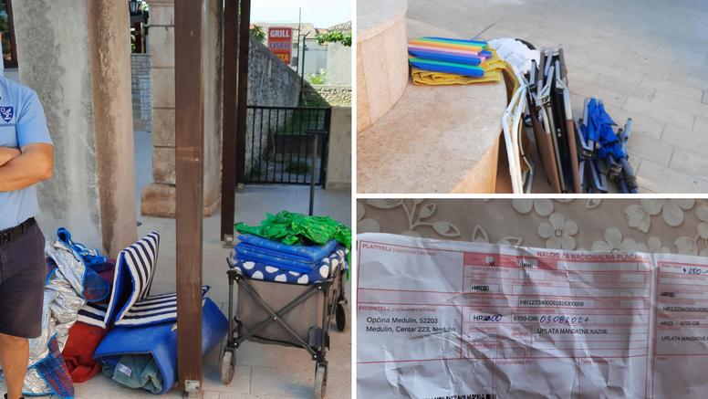 Komunalci u Medulinu uklonili gospođi stvari i naplatili joj 250 kuna: 'Kupe sve redom s plaže'