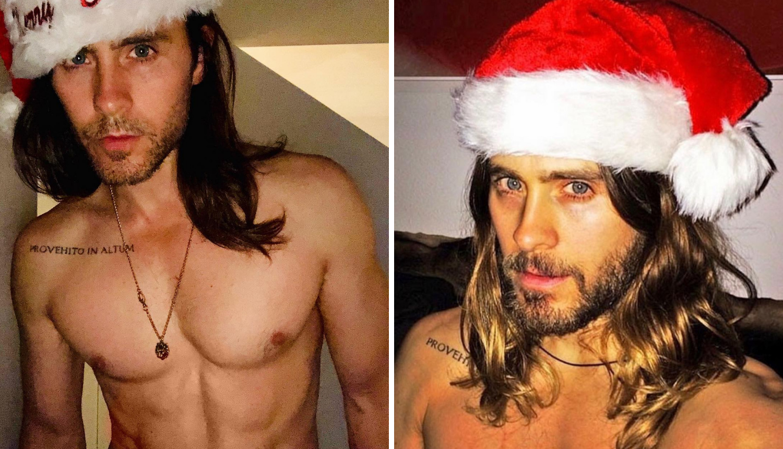 Miljenik žena nosi samo kapu Djeda Mraza: 'Sretni  blagdani'