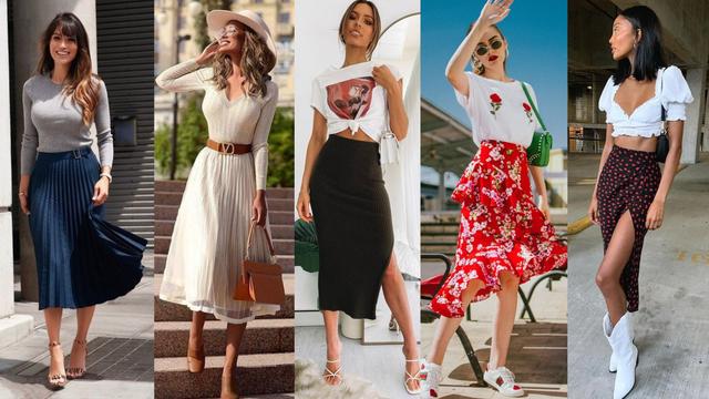 Vrlo ženstveno: 20 ideja kako nositi suknje srednje duljine