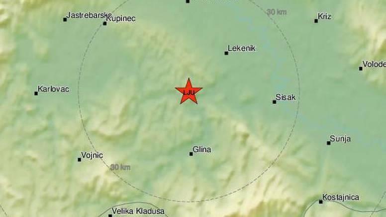 Tlo se opet trese: Potres od 2,4 Richtera probudio Banovinu