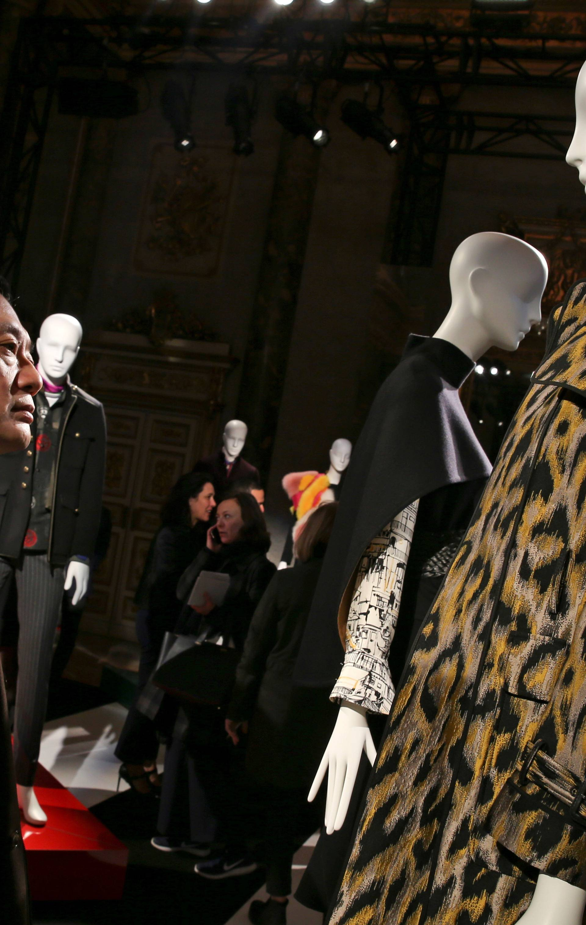 FILE PHOTO: Creations from the Shanghai Tang Autumn/Winter 2018 women collection are seen during Milan Fashion Week in Milan