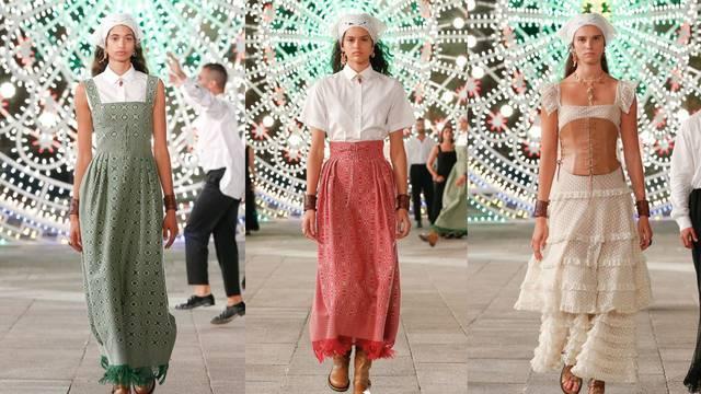 Dior elegancija: Etno vez, ručni rad i retro marame za kosu