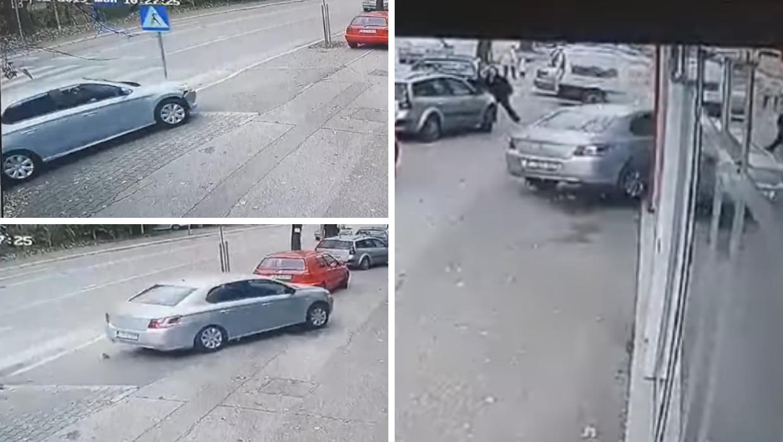 Zaglavila joj štikla, pritisnula gas pa autom uletjela u izlog