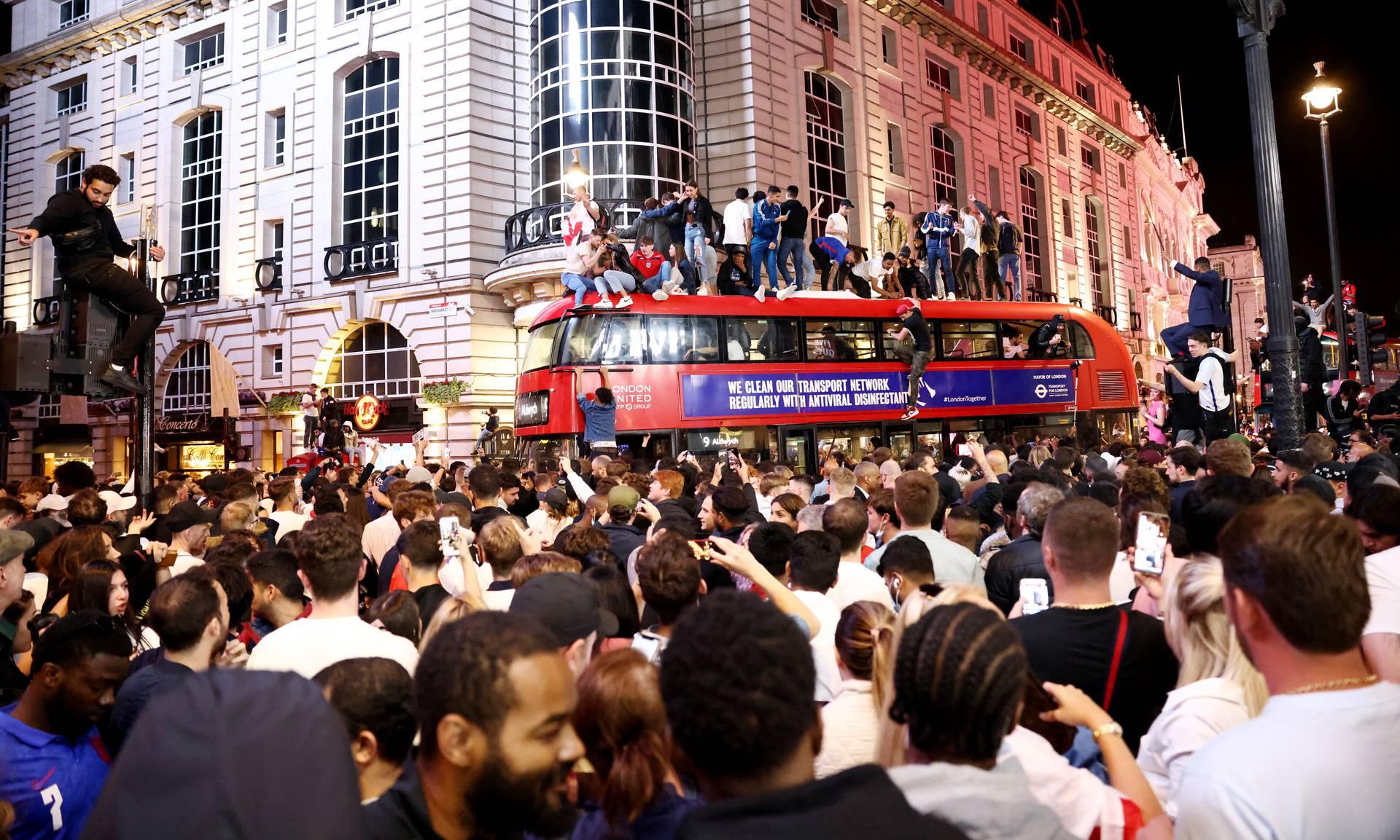 Euro 2020 - Fans gather for England v Denmark