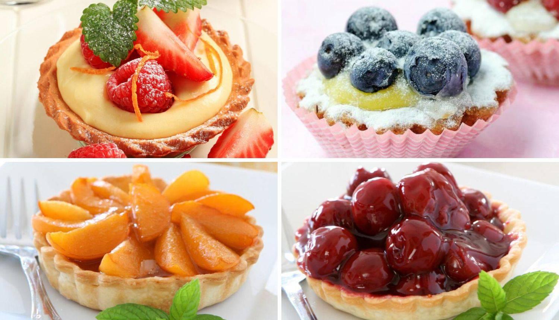 Prefine tortice s trešnjama i pudingom - i sa drugim voćem