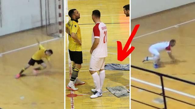 Nestvarne scene iz Knina: Igrači padali preko krpa na utakmici...