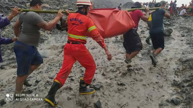 Jade mine collapses following a landslide in Phakant