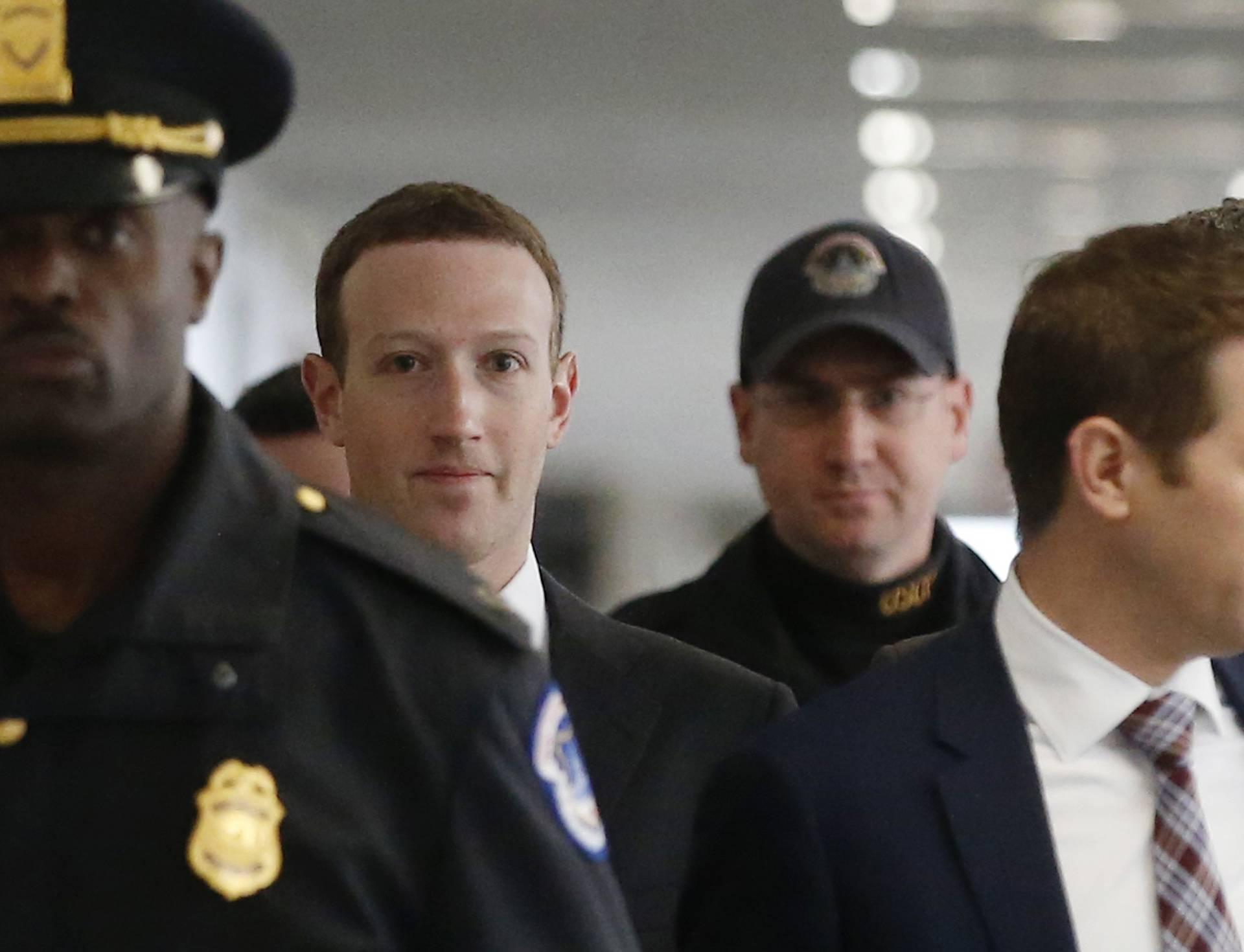 Mark Zuckerberg arrives for meeting with U.S. Senator Nelson on Capitol Hill in Washington