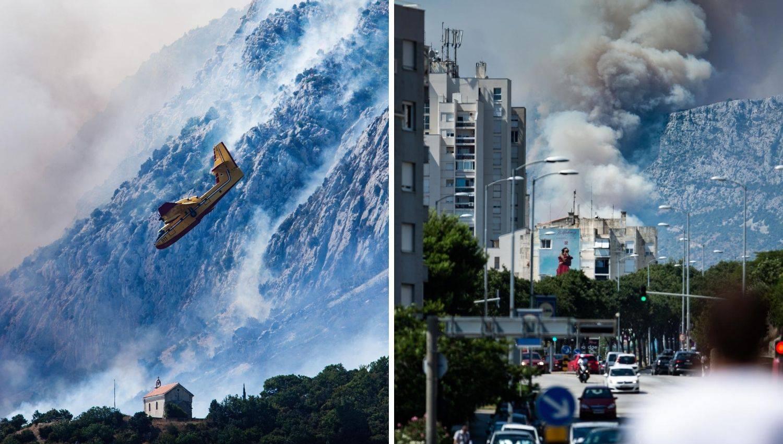 Četiri kanadera gase požar na Kozjaku: 'Gadno je, ovo ćemo gasiti sigurno dva dana...'