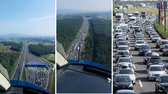 Policija objavila snimke gužvi iz helikoptera: 'Vozači, oprez, udarni je vikend na cestama!'