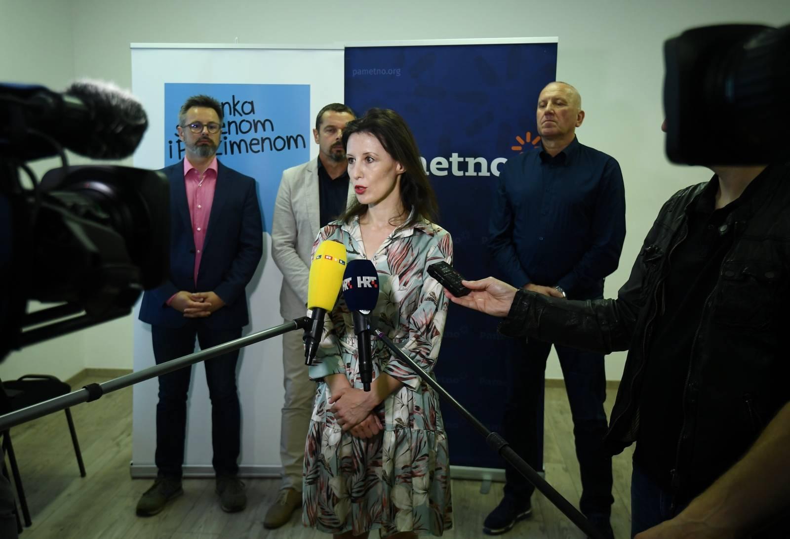Zagreb: Konferencija za medije koalicije Stranke s imenom i prezimenom, Pametno i Fokus