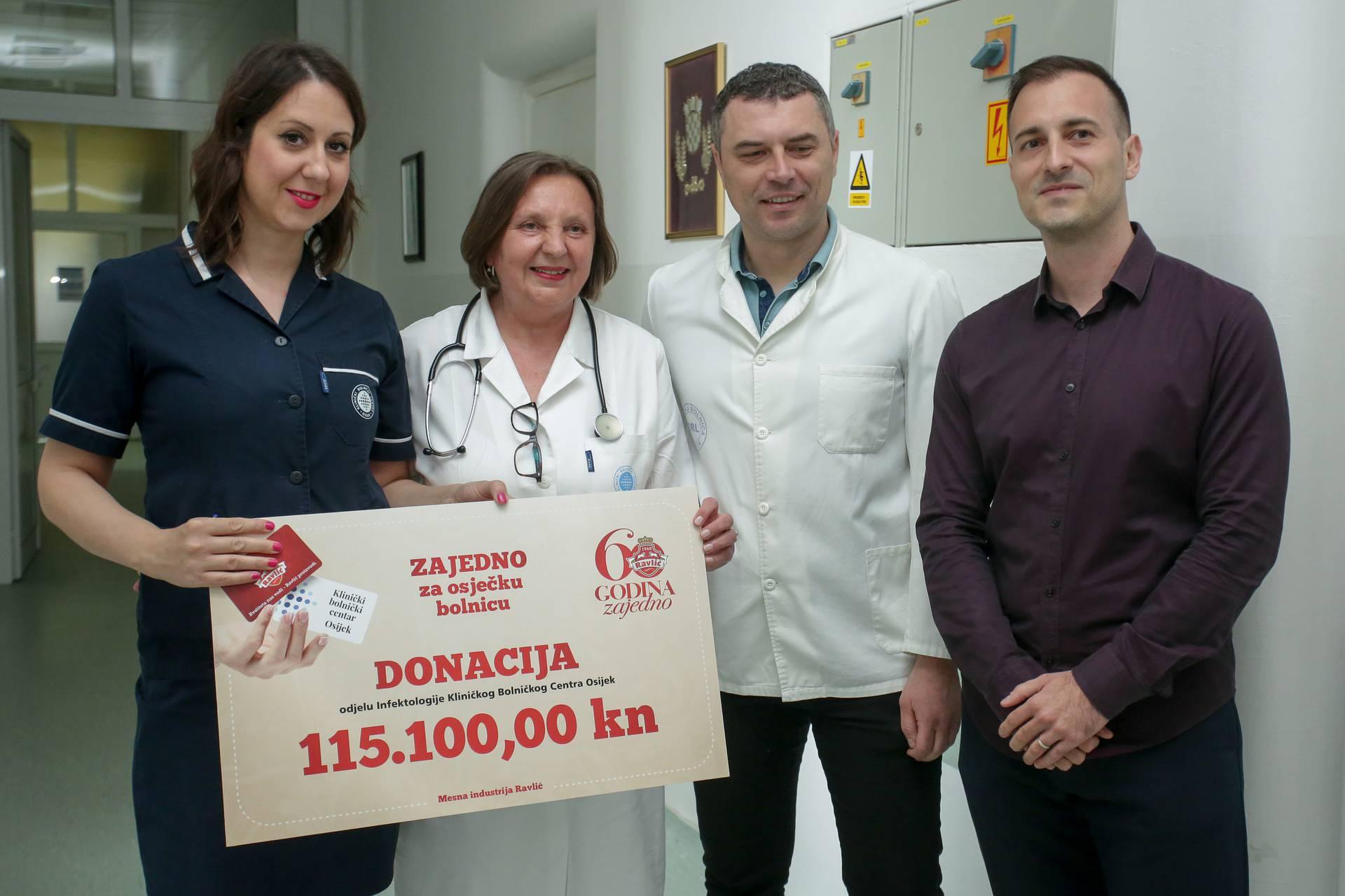 Humanitarna donacija tvrtke Ravlic KBC- u Osijek