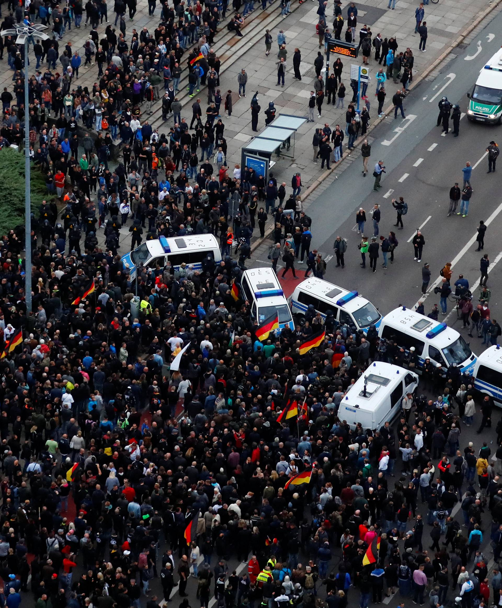 Demonstrations following the killing of a man in Chemnitz