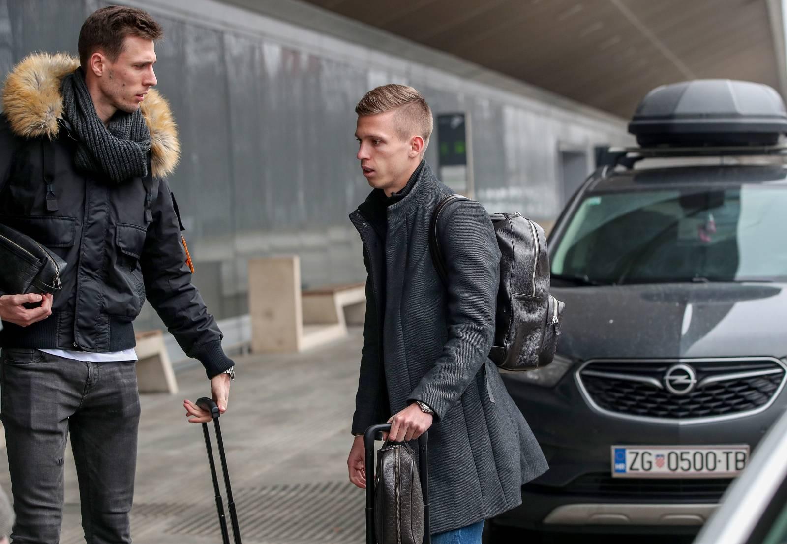 Zagreb: Dani Olmo u zračnoj luci Zagreb na odlasku za Njemačku