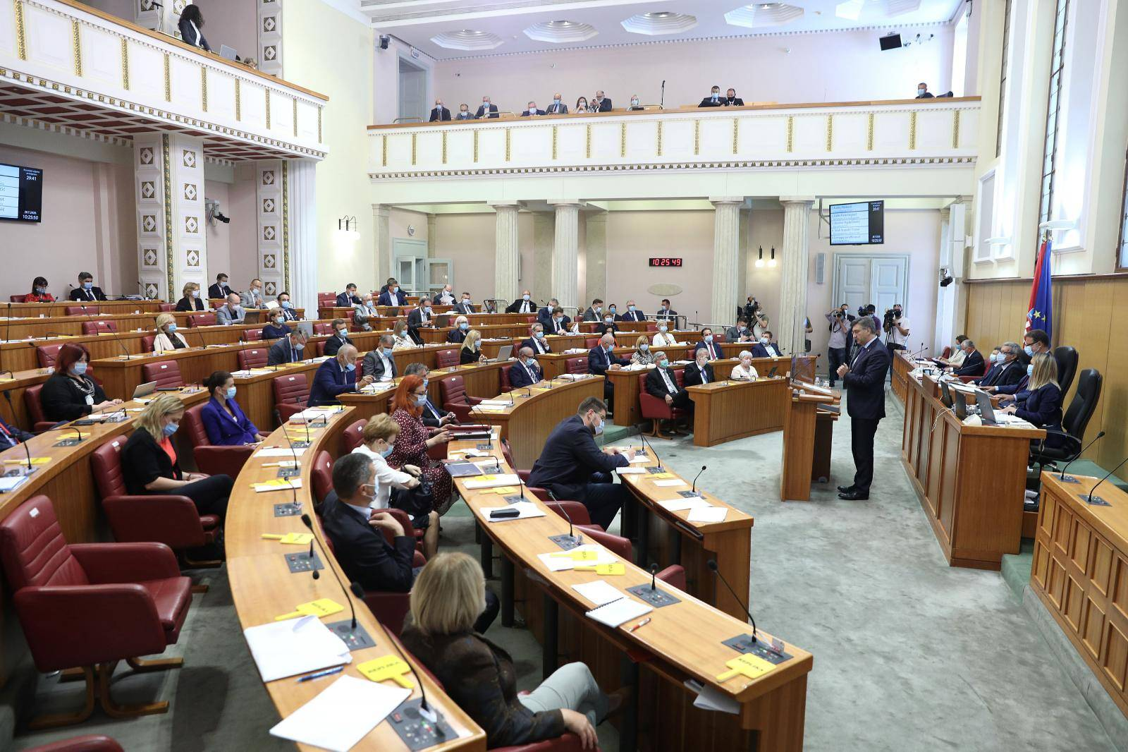 Zagreb: Andrej Plenković predstavio Zakon o obnovi zgrada oštećenih u potresu