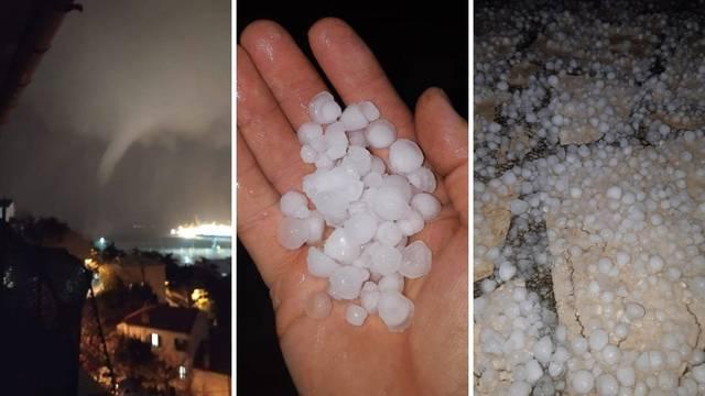 Tornado prošao Trstom, zbog iste oluje u Istri je padala tuča
