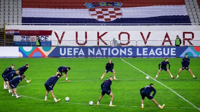 Split: Trening hrvatske nogometne reprezentacije uoči utakmice s Portugalom