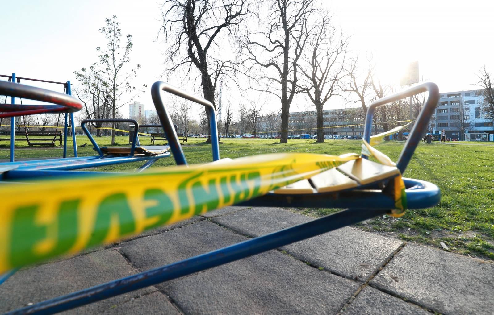 Zagreb: Ograđeno dječje igralište na Trgu Franje Tuđmana