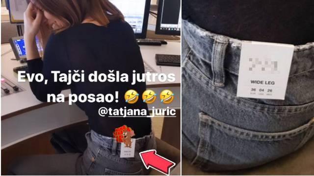 Tatjanu Jurić cijeli dan zezaju na poslu: Na džepu ostala etiketa